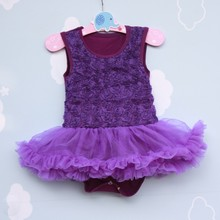 fashion cute infant rose design lace sleeveless vest rompers dress baby girls clothes children s cotton