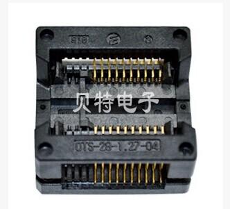 Imported IC bridge SOP20 test adapter switch seat OTS - 20 (28) - 1.27-04 burn FREESHIPPING(China (Mainland))