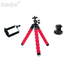 3 In One Mini Flexible Octopus Tripod + Phone Holder Bracket Holders Stand for Gopro Hero 3 3+ SJ4000 5000 for iPhone Cellphone(China (Mainland))