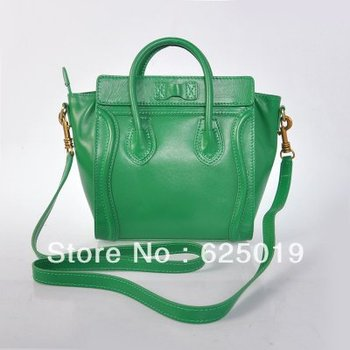 free shipping discount Clenie brand Boston Dark Green Leather Bags for sale Womens Classic Bags