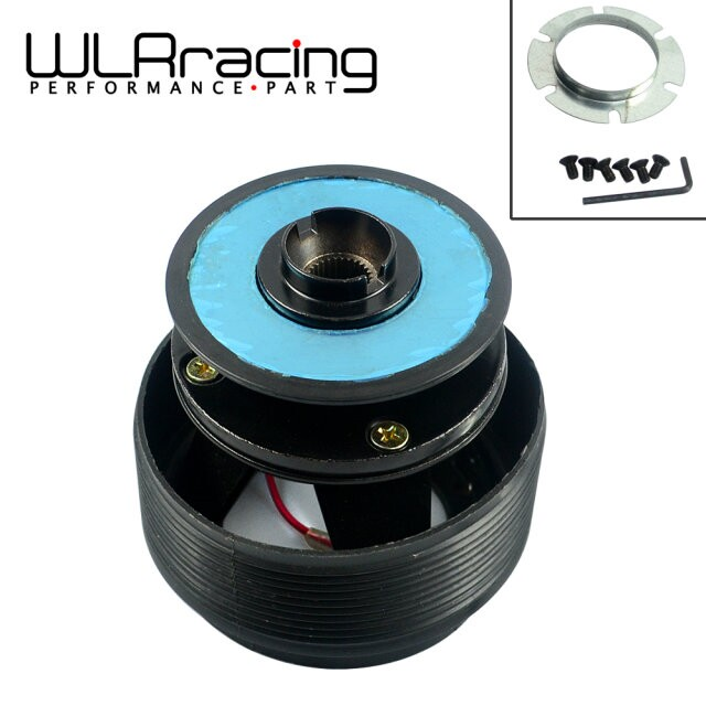 WLR STORE-Iron Steering Wheel Quick Release Hub Adapter Snap Off Boss kit Black for Honda PQY-HUB12S(China (Mainland))