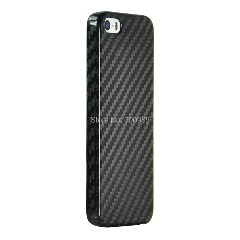 8.8g 0.65mm 100% real carbon fiber case cover iphone 5 5S gift - free clear case,free screen protector MCASE store