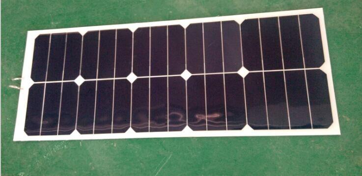 30w/12V 660*280mm PET laminated flexible solar panels without junction box(China (Mainland))