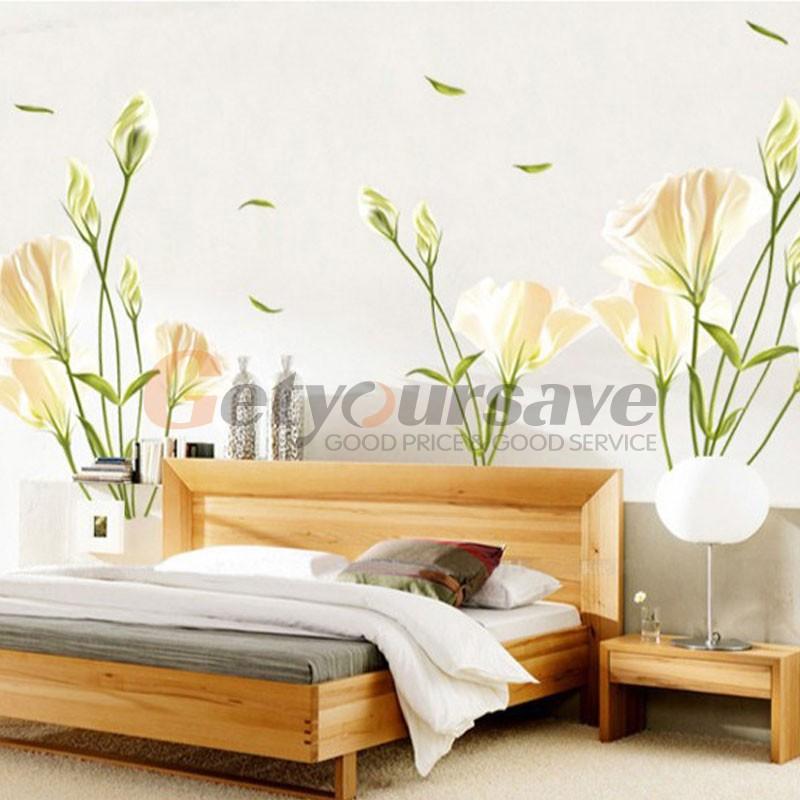 Elegant Bedroom Wall Decor : Diy home decor elegant purple lily flower wall