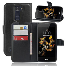 Buy LG K8 case cover fashion luxury filp Lychee leather wallet stand phone case cover cell phones LG K8 for $4.08 in AliExpress store
