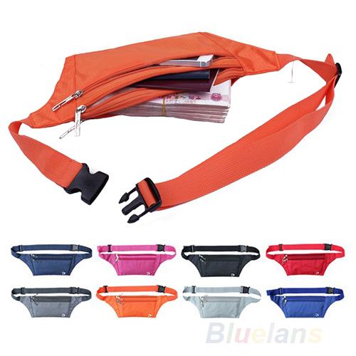 Unisex Running Bum Bag Travel Handy Hiking Sport Fanny Pack Waist Belt Zip Pouch 1F86(China (Mainland))