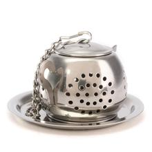Teapot Shape Stainless Steel Leaf Tea Infuser Filter Strainer Ball Spoon EX - Yellow Bee Store store