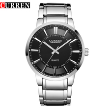 CURREN Fashion Casual Men Watches Full Stainless Steel Male Sports Military Quartz Watch Men's Business Wristwatches,W8001B