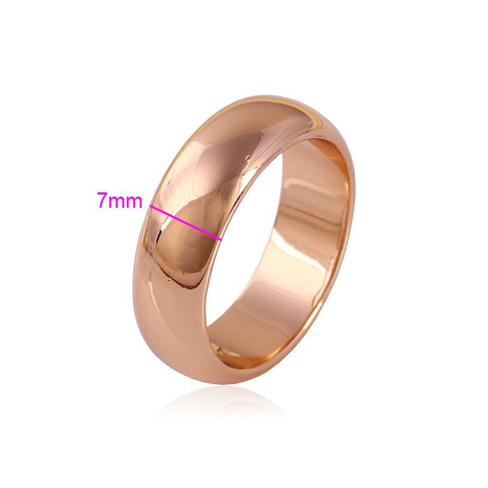 High quality 7mm wide thick wedding rings real rose lovers pinky ring For women And men USA SIZE(China (Mainland))