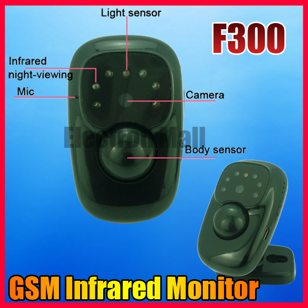 F300 Mini GSM Monitor Infrared Camera Real-time Video Record Alarm Home Warehouse Office Security, Drop Ship and Wholesale!!(China (Mainland))
