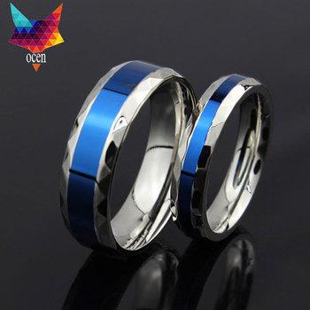 minorder $10 1pcs New Arrival 316L Stainless Steel Superman Finger Rings blue 6mm Men's titanium steel rings for lover hot sale