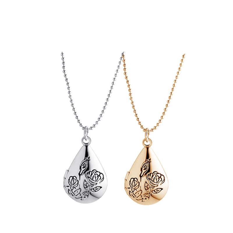 Floating Charm Locket Necklace 18k Gold Fashion Lover Photo Childs Friendship Pendant Necklaces For Women 2Pcs/Lot A102(China (Mainland))