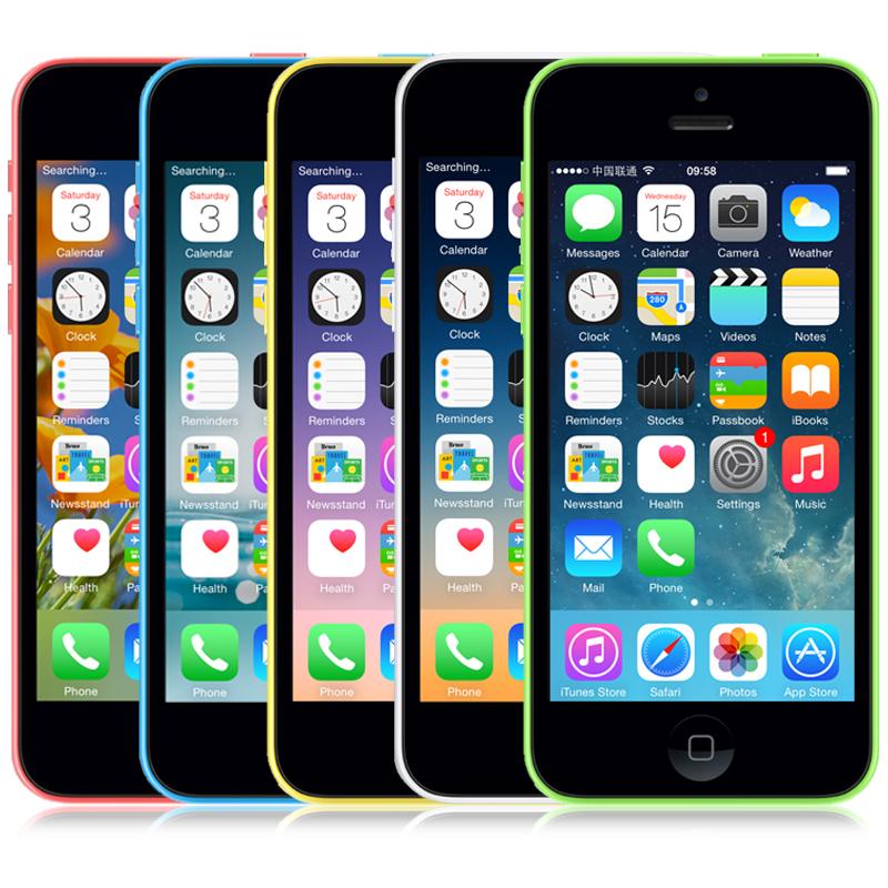 "iPhone5c Original Apple iPhone 5C Unlocked Mobile Phone 16/32GB IOS 9 Retina 4.0"" IPS 1GB 8MP 1080P GPS WIFI 3G WCDMA(China (Mainland))"