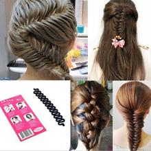 Free Shipping New Fashion French Hair Braiding Tool Roller With Hook Magic Hair Twist Styling#M01072(China (Mainland))