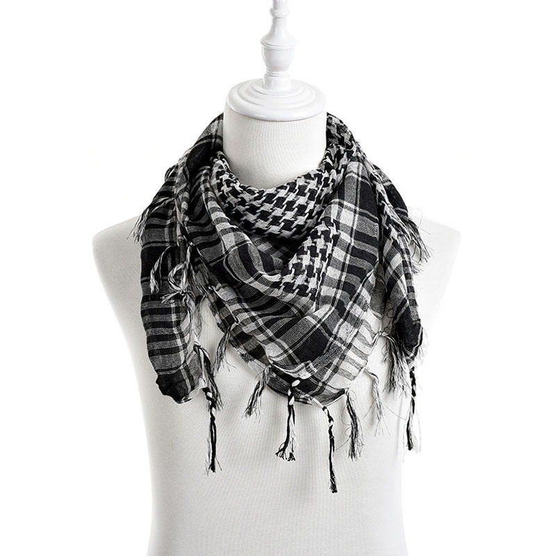 New Arab Shemagh Tactical Palestine Light Polyester Scarf Shawl For Men Women Fashion Plaid Printed Men Scarf Wraps(China (Mainland))