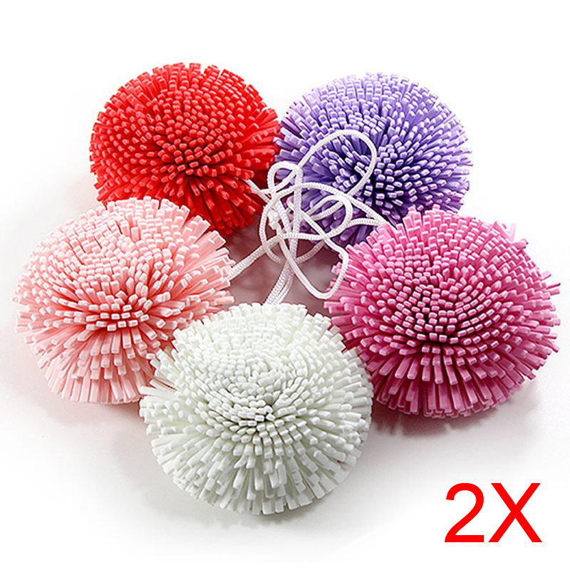 2pcs New Bath/Shower Body Exfoliate Puff Sponge Mesh EVA Colorful Bath Ball(China (Mainland))