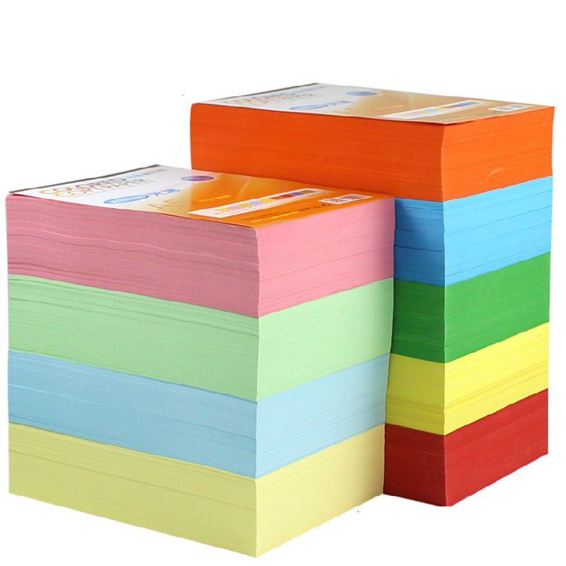 New Copy printing color paper A4 100 sheets 80G Multicolors Handmade DIY paper Office School Supplies Gift(China (Mainland))