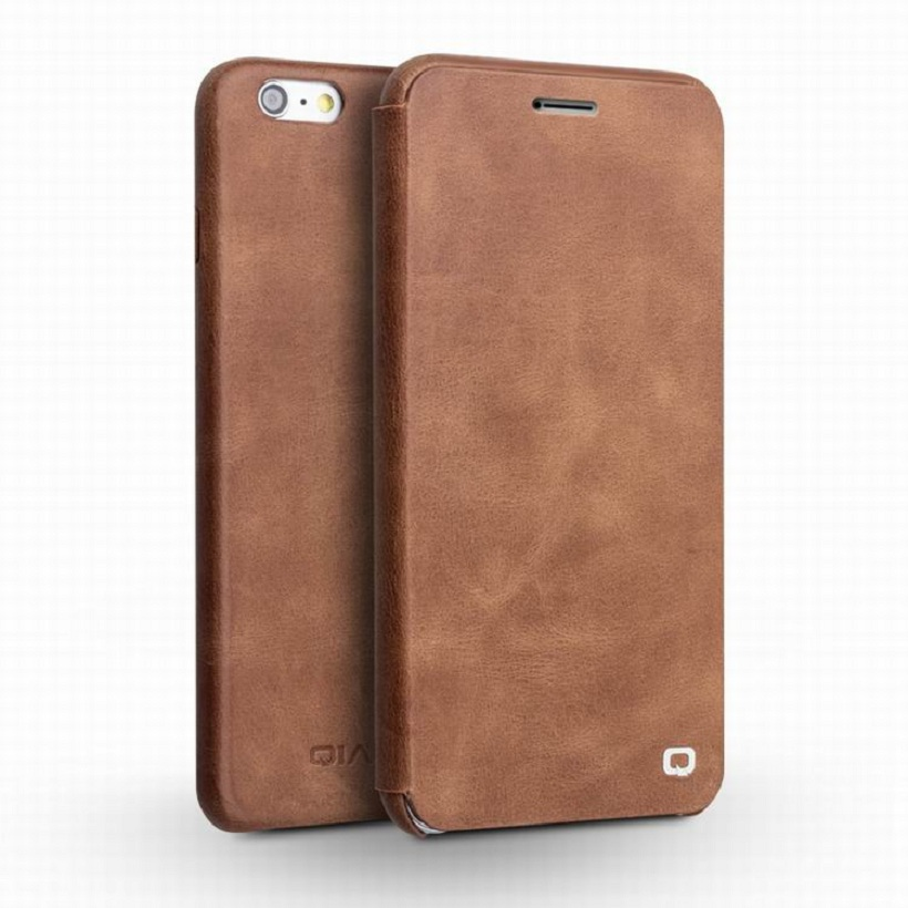 For iphone 6&6s Case QIALINO Ultra slim Real Leather Case for iPhone 6/6s plus Style High Quality Flip Cover for iphone6 4.7/5.5(China (Mainland))