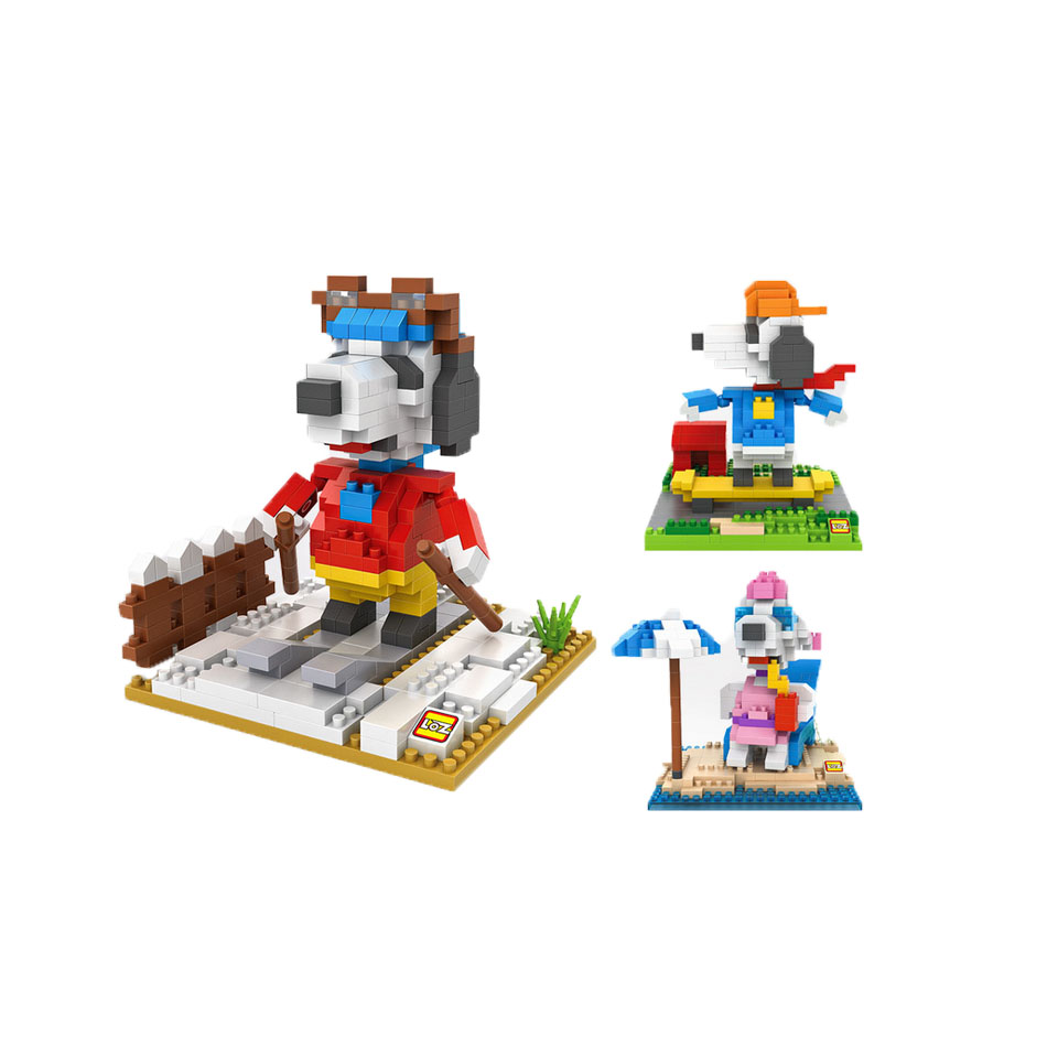 PEANUTS Charlie Brown minifigures minecraft building Blocks beagle Migro Beagle Dog Action Figure Model Kids Toys 0738<br><br>Aliexpress