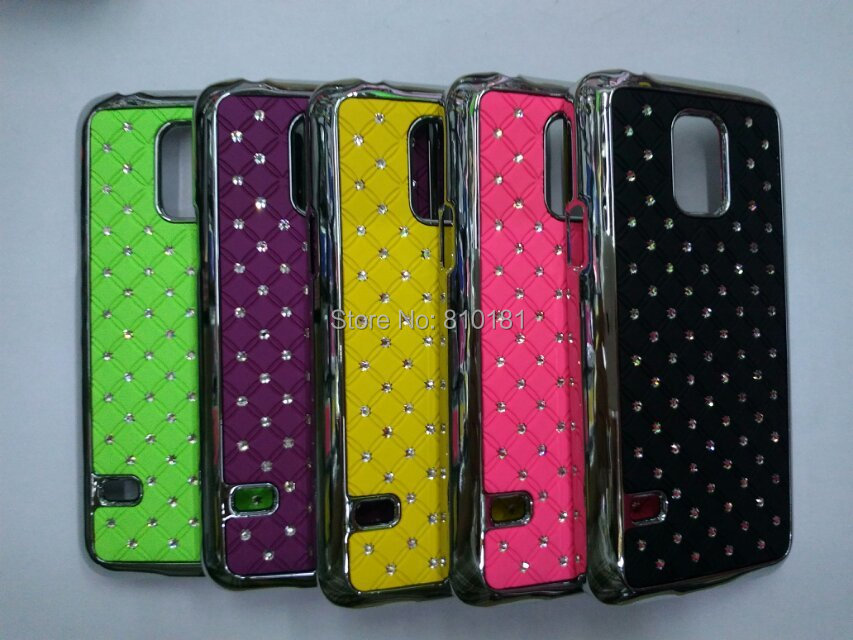 Здесь можно купить  50pcs/lot Free Shipping New Crystal Star Rhinestones Diamond Bling Chrome Hard Case For Samsung Galaxy S5 mini G800  Телефоны и Телекоммуникации