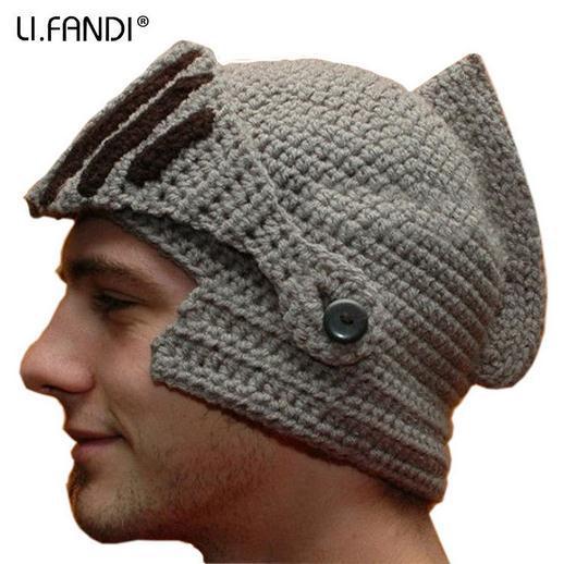 Men's Knit Winter Hat Beanie Reversible Skull Chunky Baggy Warm Cap - mom's love ^_^o store
