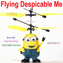 2016 New Arrive NBRC 688 Best Gift Very Funny Toy ! Remote Control RC Despicable Me Minion Helicopter Quadcopter Drone Ar.drone(China (Mainland))