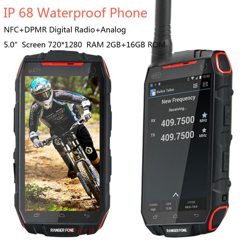 "Android Mobile smartphone waterproof phone cell phones originals Digital Radio PTT NFC 5"" Quad Core 3G dual SIM Russian language(China (Mainland))"