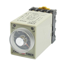 JFBL DC 12V 0-30 Seconds 30s Electric Delay Timer Timing Relay DPDT 8P w Base - JJ For Big Luck store