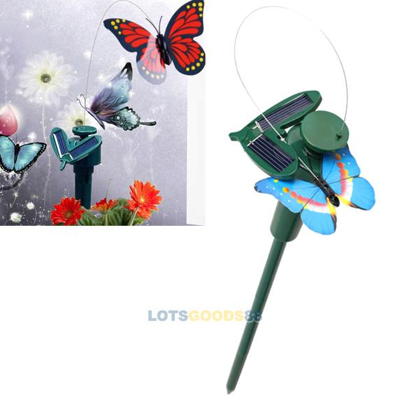 LS4G Solar Powered Dancing Flying Butterfly Garden Decoration Color At Random(China (Mainland))