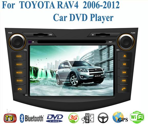 2 Din Car DVD Player Fit TOYOTA RAV4 2006 2007 2008 2009 2010 2011 2012 GPS TV 3G Radio WiFi Bluetooth Wheel Control(China (Mainland))