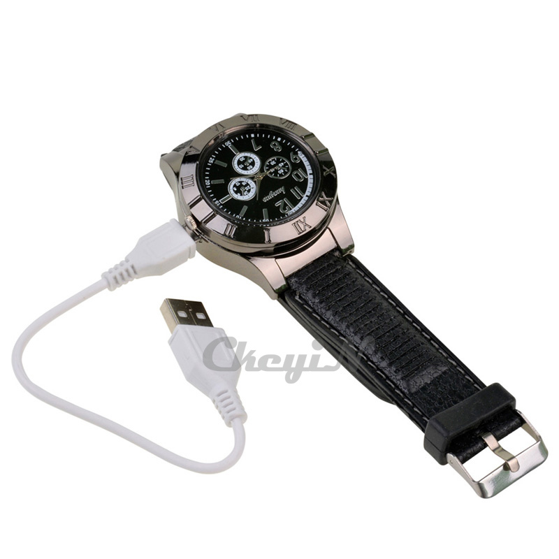 2015 Functional Smart Windproof Watch Lighter USB Charge sports casual quartz Watches men WL002 X38P