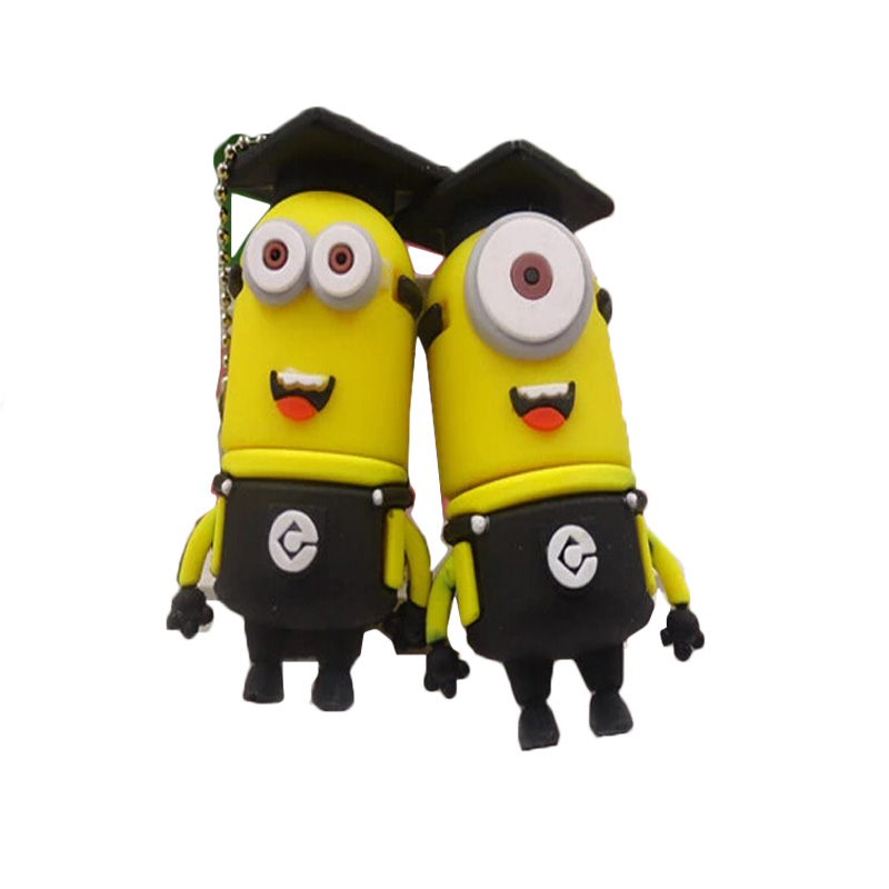 Factory Price Minions USB Flash Drive Pen Drive 4gb 8gb 16gb 32gb 64gb External Storage Flash Card USB Stick USB 2.0 Memory Disk(China (Mainland))