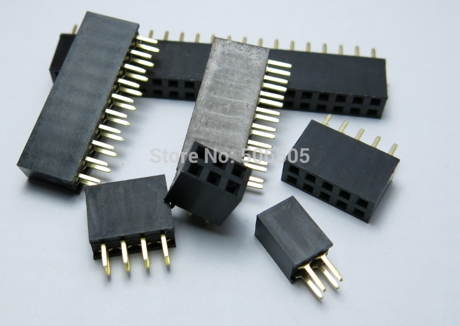 Free shipping 12Pins Double row line socket outlet Female 2.54 MM spacing ribbon cable socket 20pcs/lot<br><br>Aliexpress