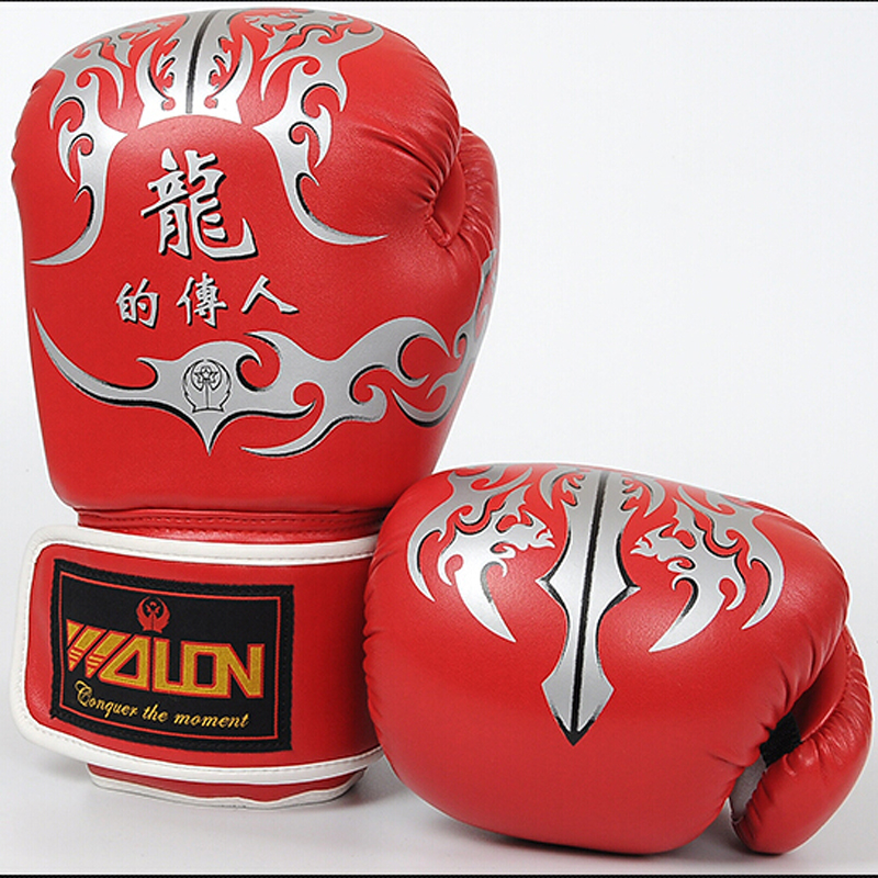 Male/Female Boxing Gloves 10oz Sanda/Karate/Wushu/Fight luvas de boxe Black Red White luva muay thai Boxing Mitts mma Equipment(China (Mainland))