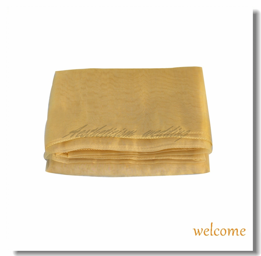 "2014 New Gold Organza Table Overlay Cloth 72"" Square Wedding Party Birthday Supply Colors Banquet Decorations Colors Wholesale(China (Mainland))"