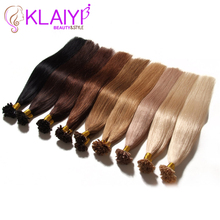 U Tip Pre Bonded Fusion Hair Extensions Straight Brazilian Virgin Hair Natural Hair Tips Keratin Capsule Hair Extensions 50g(China (Mainland))