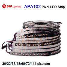 1m/5m APA102 Smart led pixel strip, 30/32/36/48/60/72/144 leds/pixels/m ,IP30/IP65/IP67/IP68 DATA and CLOCK seperately DC5V(China (Mainland))