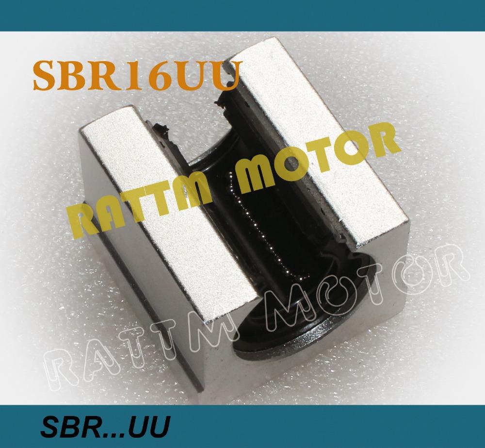Free shipping 4PCS SBR16UU SBR16 16mm Linear Ball Bearing Block CNC Router(China (Mainland))
