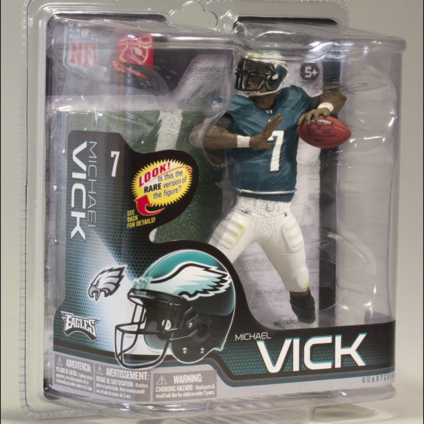 Animation Garage Kid Collection Kids Toys: Action Figure PVC Dolls NFL Philadelphia Eagles Player Michael Vick Model Best Gifts(China (Mainland))