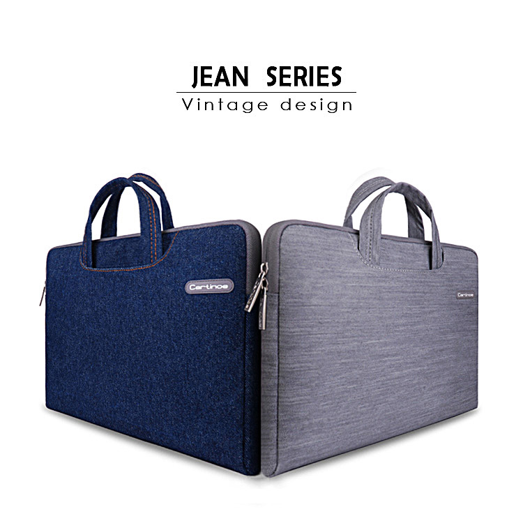Cartinoe Denim Fabric Portablet Laptop  bag 11.6 12 13.3 15.4 inch for APALL iPad Dell HP SONY<br><br>Aliexpress