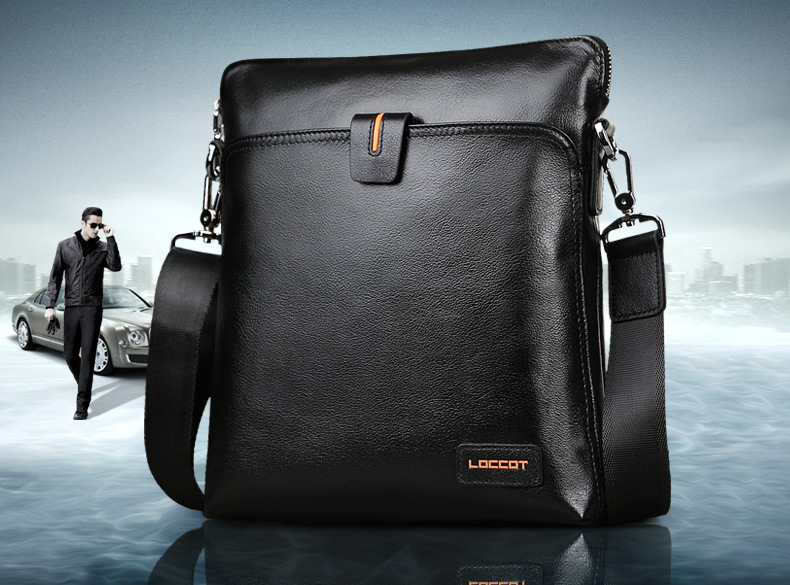 Male shoulder bag genuine leather man bag first layer of cowhide commercial messenger bag casual backpack<br><br>Aliexpress