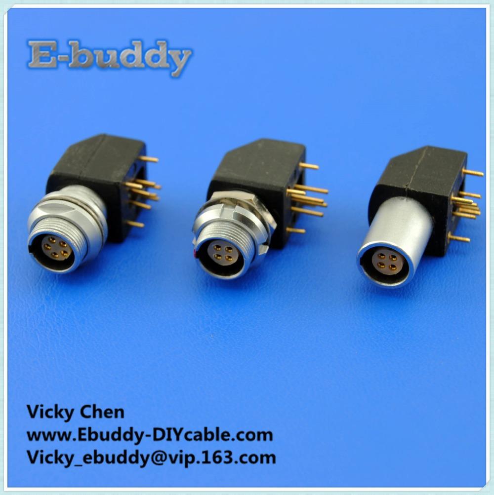 Lemo connector EPG EXG 0B/1B/2B 2/3/4/5/6/7/810 pin PCB right angle connector(China (Mainland))
