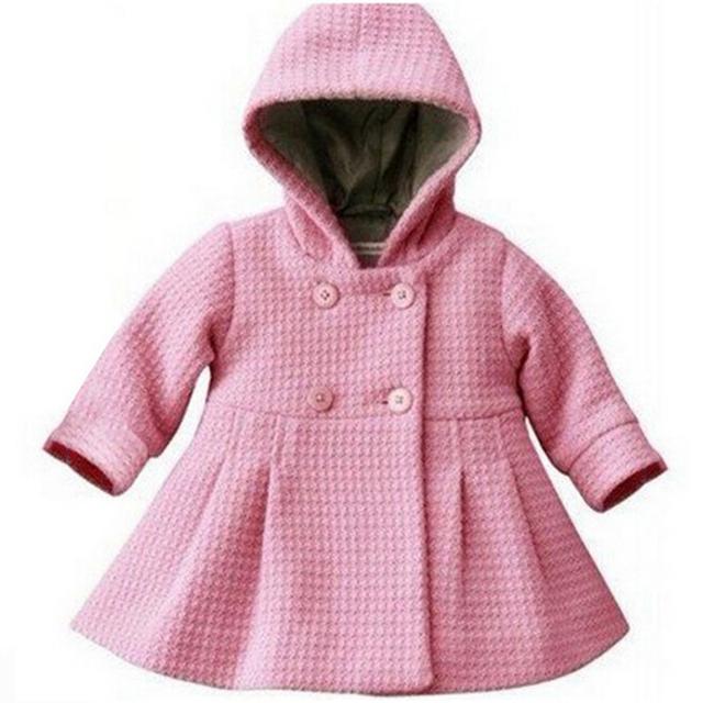 10-24месяцев Мода Теплый Девочка Пальто Розовый детские Зимние Куртки Детские Пальто Пальто Осень Новорожденных детская Одежда