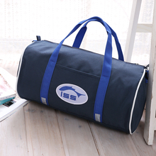 Brand New Multi-functional Navy Blue Cylinder Sports Bag Gym Bag Handbag Eco-friendly Drum Bag For Men And Women