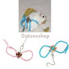 New Lead Ferret Hamster Nylon Rope Women Adjustable Rat Mouse Harness Fashion(China (Mainland))