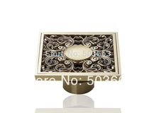 Construction & Real Estate Fashion Ross Antique Brass Grate Floor Register Waste Drain 4″ x 4″ MF-1044 Flower Art Floor Drain