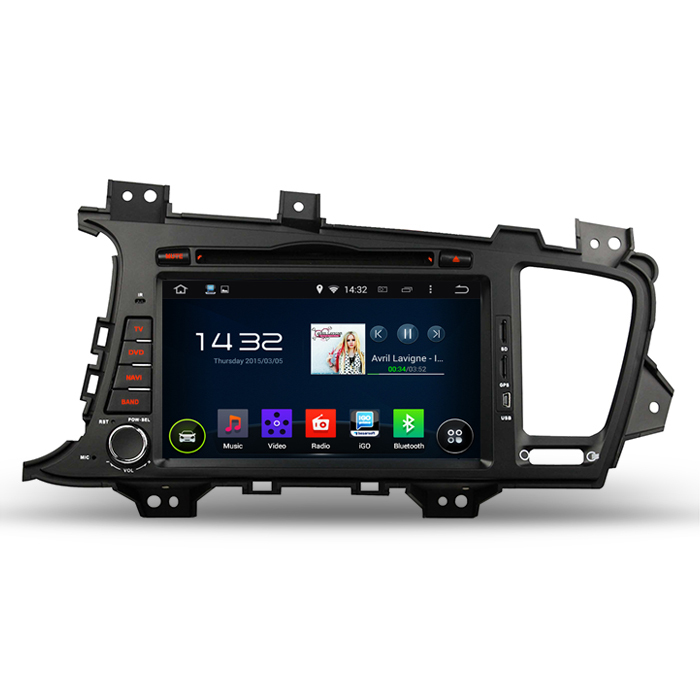 "Dual Core A9 1.6GHz Android 4.4.4 Car PC For Kia K5 Optima 2011 2012 DVD GPS 3G WiFi DVR OBD 8"" Capacitive Screen + CANBUS(China (Mainland))"