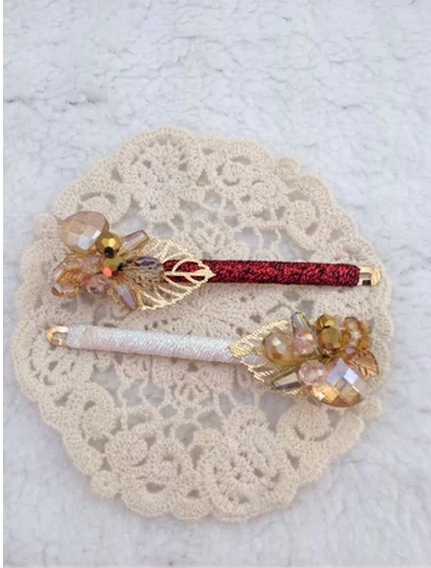Free shipping 2014 New Fashion Women Headwear Hair Accessories Shining Glass Leaf Barrettes(China (Mainland))