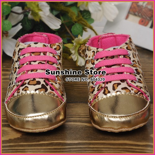 baby girl booties for children christmas sneakers for kid shoe;Leopard cheetah print!Children sport prewalker #2B2034 3 pair/lot