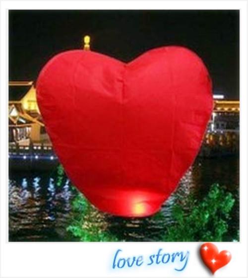 Free shipping 25PCS/lot Chinese Fire Sky Lanterns Red Heart Wishing Balloon Birthday Wedding Christmas Party Lamp(China (Mainland))
